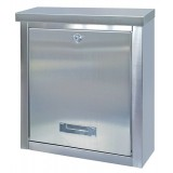 Image for Rottner Brighton Mail Box Opening Suitable for A4 Documents W400xD155xH310mm Stainless Steel Ref T05068