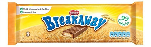 Nestle Breakaway Milk Chocolate Covered Biscuits Individually Wrapped Ref 12232568 [Pack 8]
