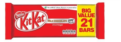 Nestle Kit Kat Chocolate Bars 2 Finger Bars Ref 12173858 [Pack 21]