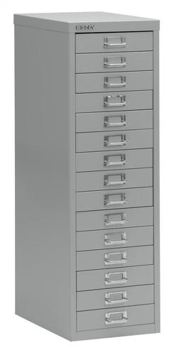 Bisley SoHo Multidrawer Cabinet 15-Drawer H860mm Grey Ref