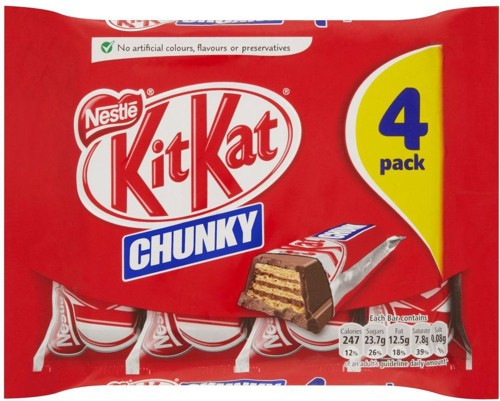 Nestle Kit Kat Chunky Ref 12166097 [Pack 4]
