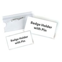 Announce Pin Name Badge 40X75 Pk100