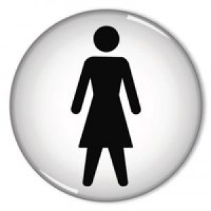 Domed Sign Women Symbol 60mm RDS1