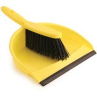 Dustpan and Brush Set Soft Bristle Yellow Ref SPC/VZ.8011/Y