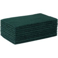 Green 150x115mm Economy Scourer Pk10