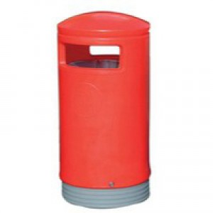 Outdoor Red Hooded Top Bin 321773