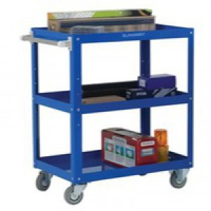 Image for 3 Tier Works Trolley Blu 329946 (0)