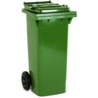 Green 2 Wheel Refuse Container 120 Ltr
