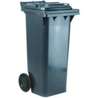 Grey 2 Wheel Refuse Container 120 Ltr