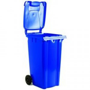 Blue 2 Wheel Refuse Container 140Ltr