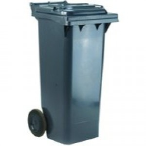 Grey 2 Wheel Refuse Container 140 Ltr