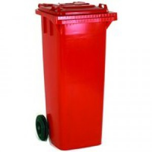 Red 2 Wheel Refuse Container 360 Ltr