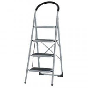 4 Tread White Step Ladder 359295