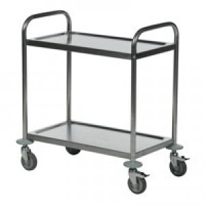 Image for 2 Shelf Trolley 600X400 Slv