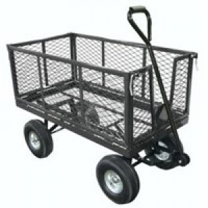 Mesh Platform Truck With Drop-Down Sides