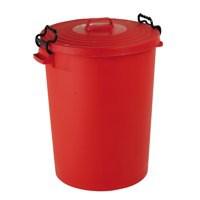 Red Light Duty Dustbin/Lid 110Ltr 382067