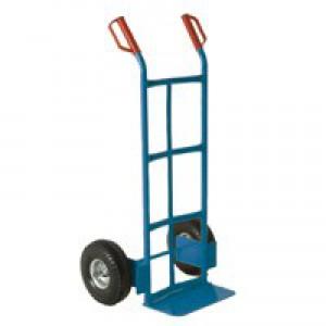 Blue Tubular Hand Truck 100kg Capacity