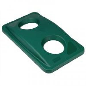 Rubbermd Slim Jim Green Bin Lid BotCans