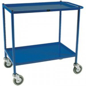 Service Blue Trolley 2-Tier 747X432mm