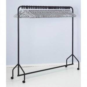 Image for FD Garment Rail Black/30 Grey Hangers