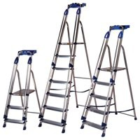 Aluminium Blue Seal 4 Tread Ladder