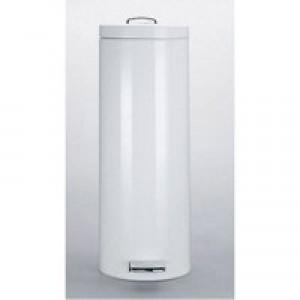 White Pedal Bin 30 Litre / 695x293mm