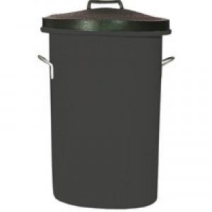 Black Heavyweight Cylindrical Store Bin