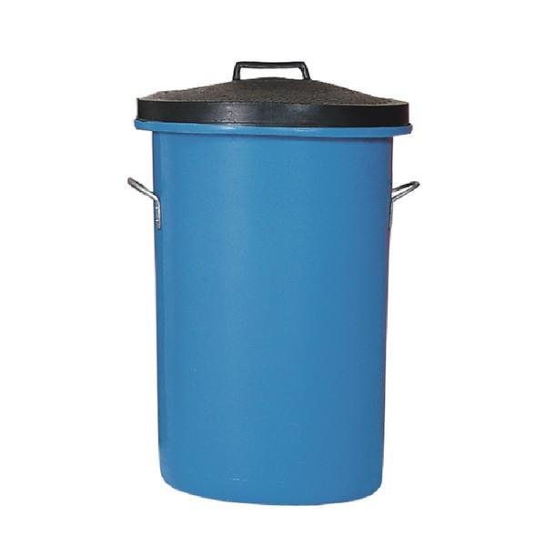 Blue Heavyweight Cylindrical Storage Bin