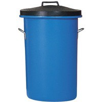 Blue 85 Ltr H/Duty Coloured Dustbin