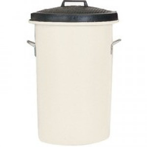 White 85 Ltr H Duty Coloured Dustbin