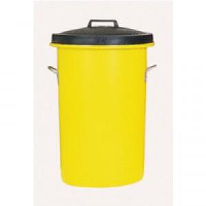 Yellow Hvyweight Cylindrical Storage Bin