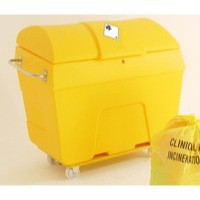 Yellow Clinical Waste Truck 400 Ltr
