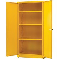Yellow 3 Shf Hazard Storage Cabinet 72in