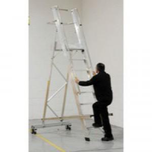 Alum 12 Tread Folding Mobile Step Ladder