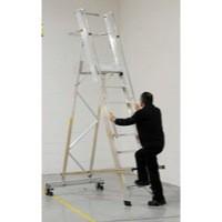 Alum 8 Tread Folding Mobile Step Ladder