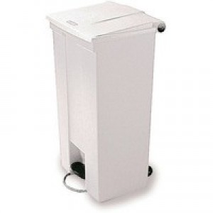 White Step On Waste Container 30.5 Ltr