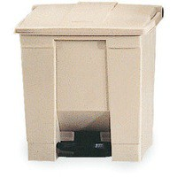 Beige Step On Waste Container 45.5 Ltr