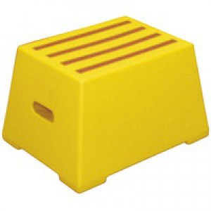 1 Tread Yellow Plastic Safety Step