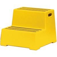 Yellow 2 Tread Plastic Safety Step