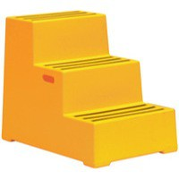 3 Step Yellow Plastic Safety Step