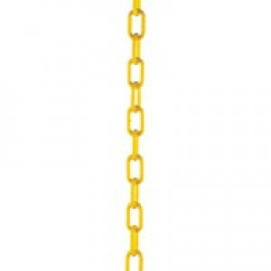 Yellow Plastic Chain 10mm Short Link 25M