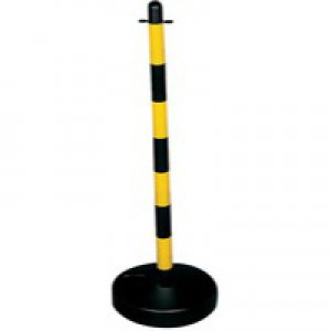 Yellow/Black Circular Post Plastic Base