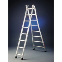 Transformable 2x10 Rungs Alum Ladder