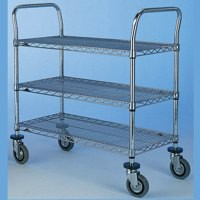 3 Tier 457x1070mm Chrome Trolley