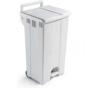 Plastic Pedal Bin / Lid 90L Grey 357001