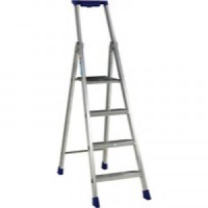 Alu 4 Ribbed Step Platform Ladder 358754