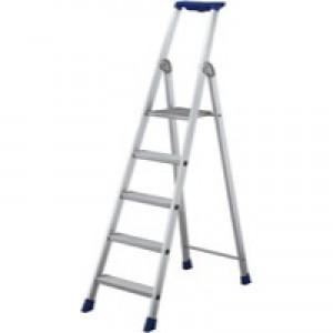 10 Rib Tread Platform Step Ladder Alum