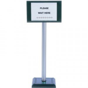 PVC Post 110Cm / Sign Holder A4 370445