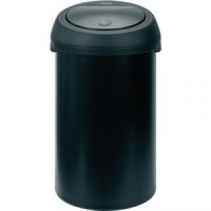 Touch Top Black Waste Bin 60 Ltr 374038