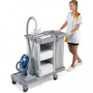 Housekeeping Trolley Lg Base Grey 374981